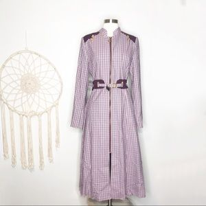 Zengin Retro Vintage 70's Plaid Power Dress